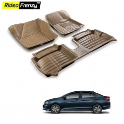 Buy Honda City Full Bucket 5D Crocodile Floor Mats|Free Shipping