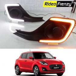 Buy Maruti New Swift 2018 Led DRL (Day Time Running Lights) With Turn Signal at Best prices-RideoFrenzy