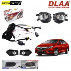 Buy DLAA Honda City 2017 Fog Lamps with wiring Kit & SWITCH at best price | Rideofrenzy