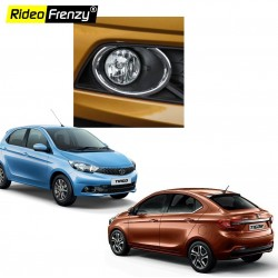 Premium Chrome Fog Lamp Cover for Tata Tiago & Tigor