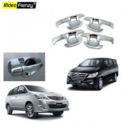 Buy Triple layer Toyota Innova Chrome Hanle Bowl Garnish online at low prices-Rideofrenzy