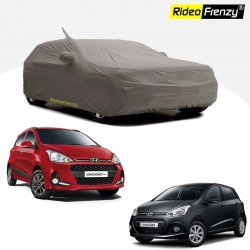 Buy Premium Fabric Hyundai Grand i10 Body Cover with Mirror & Antenna Pockets at low prices-RideoFrenzy
