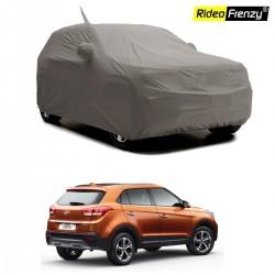 Buy Premium Fabric Hyundai Creta Body Cover with Mirror Pockets at low prices-RideoFrenzy