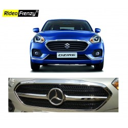 New Dzire 2017 Chrome Grill Covers (Mercedes Style)