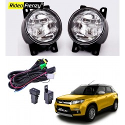 Buy Vitara Brezza Fog Lamps Kit Online India | Wiring & switch Included