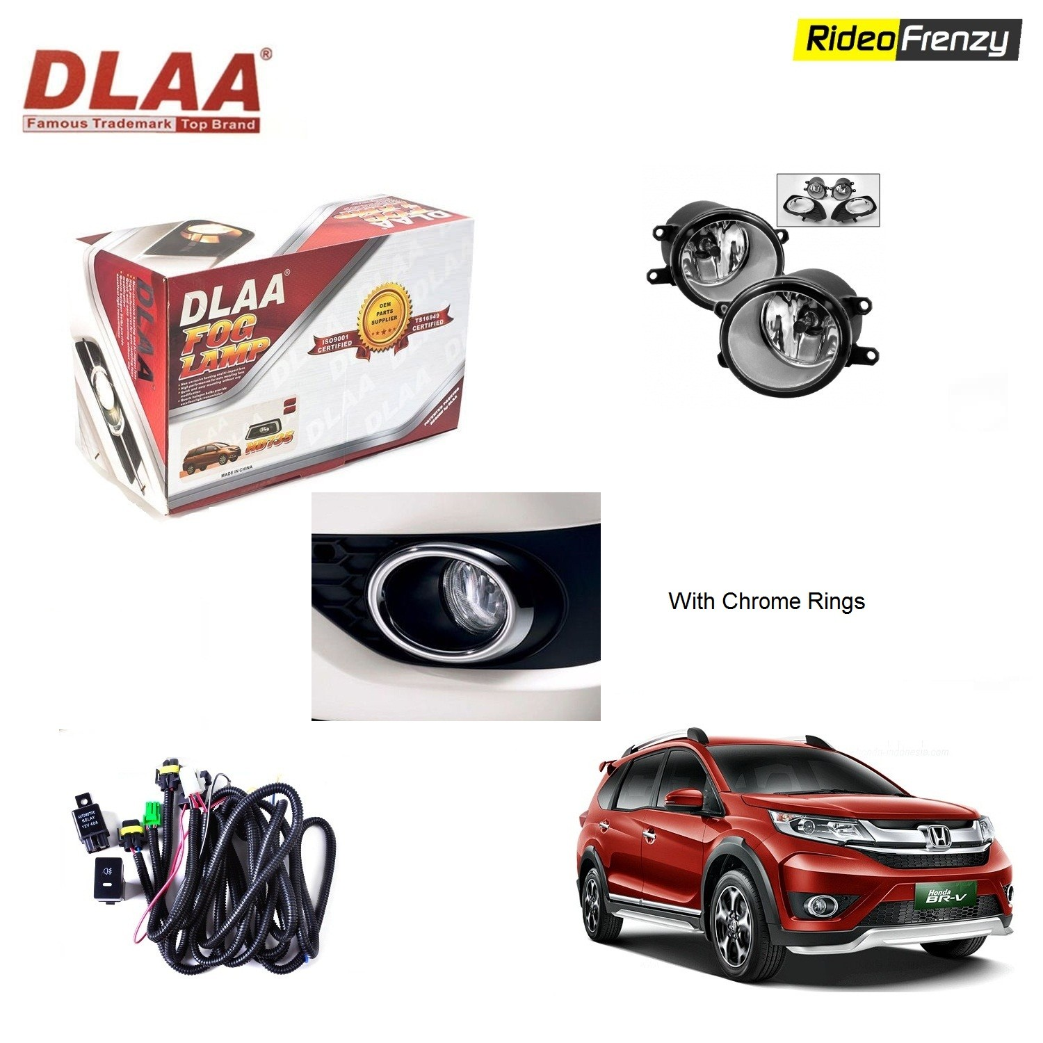 Buy Original Dlaa Honda Brv Fog Lamps With Wiring Kit Switch At Ford Aspire Harness Low Prices Rideofrenzy