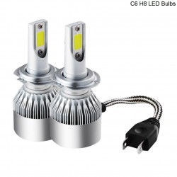 Buy Ultra bright C6 H8 LED Fog Lamp Bulbs | 3800LM White Light Bulbs | Online India