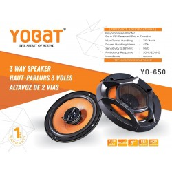 Yobat 3-way 6 inch Car Speakers 310 W Power inbuilt Tweeter & Woofer