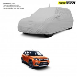 Buy Vitara Brezza Custom Fit Car Cover Mirror Pockets & Antenna | 100% Waterproof