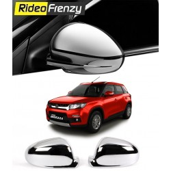 Buy Vitara Brezza Chrome Mirror Garnish Online | Triple Layer Plating