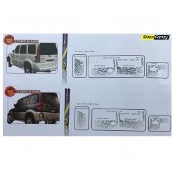 Buy Mahindra Scorpio Body Graphics Stickers online India | Original Product