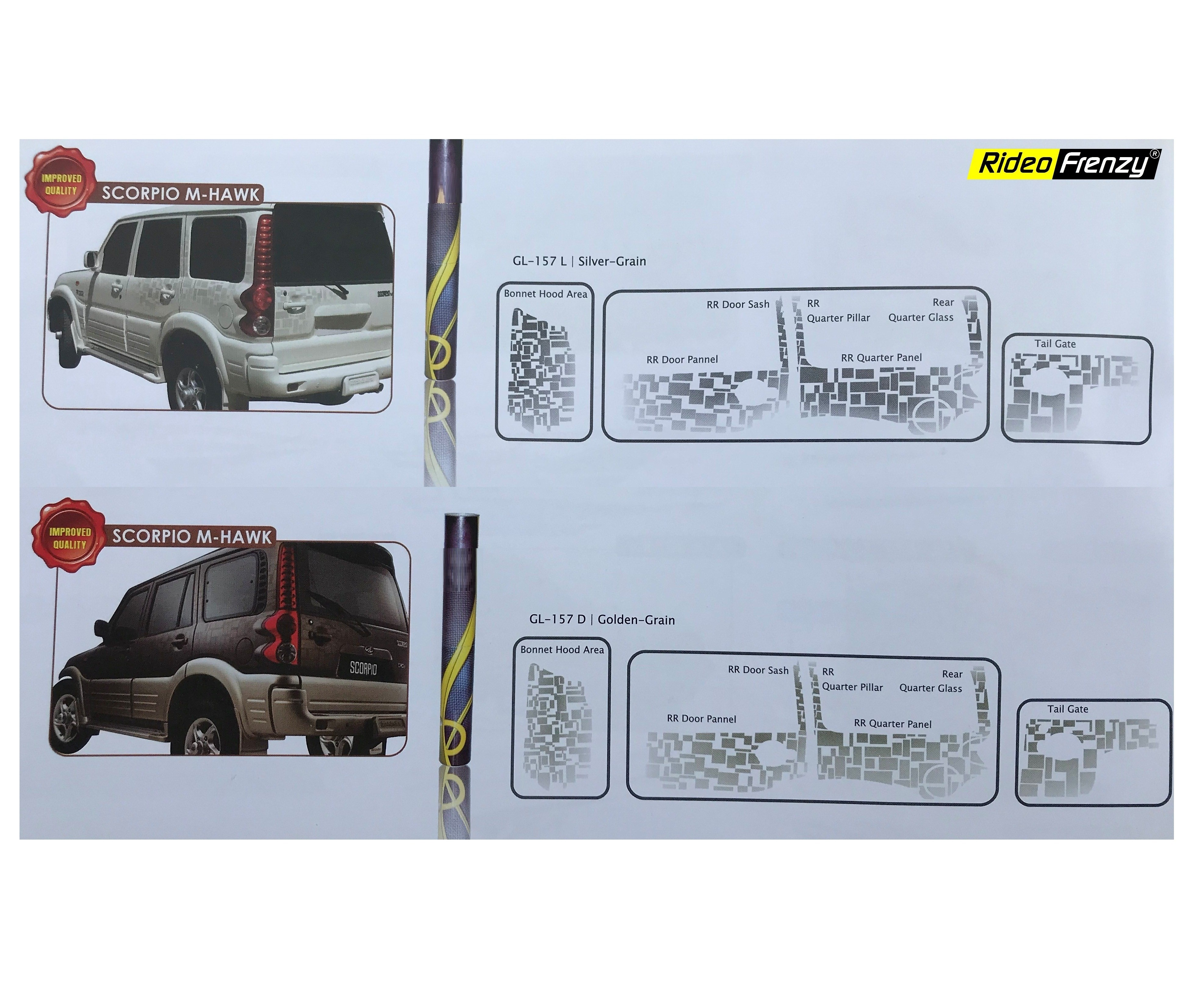 Mahindra scorpio body graphics stickers