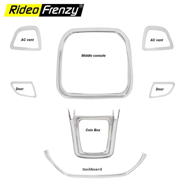 Buy Maruti Suzuki Vitara Brezza Interior Chrome Kit Online | Best Quality Guarantee