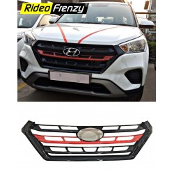 Buy Hyundai Creta 2018 Modified Front Grill | Imported Quality | Black & Red | Custom Fit