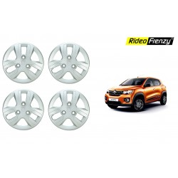 Buy Renault Kwid Stylish Wheel Covers Cap | ABS plastic | Silver Color | Kwid Modification Accessories