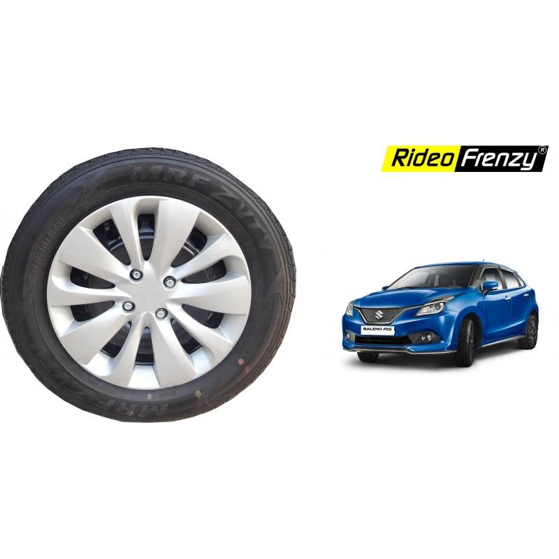 Buy Maruti Suzuki Baleno Stylish Wheel Covers Cap | ABS plastic | Silver Color | Original