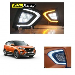 Buy Hyundai Creta 2018 Type Fog Lamp with DRL | No Wire Cutting | Best Selling Creta Accessories