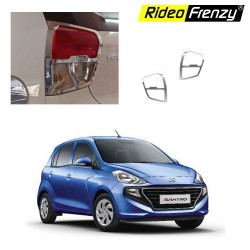 Hyundai Santro 2018 Chrome Tail Light Covers Garnish | Triple Layered Chrome Plating