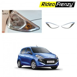 Buy Hyundai Santro 2018 Chrome HeadLight Covers Garnish online India | Best Selling
