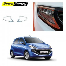 Buy Hyundai Santro 2018 Chrome Fog Lamp Garnish Covers online India | Best Selling