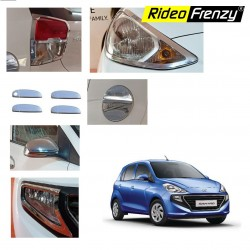 Buy Hyundai Santro 2018 Chrome Combo Set of 6 | Headlights | Tail Lamp | Mirrors | Handles | Fog Lamps | PTC