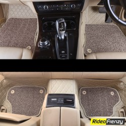 Buy Hyundai Xcent Custom Fit Leather 7D Floor Mats | Flat 40% Off on floor mats for New Xcent