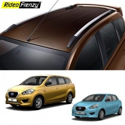 Datsun Go & Go Plus Roof Rails Silver ABS Plastic | Imported Quality | Drill Free
