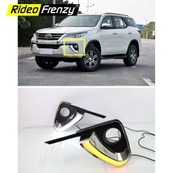 Buy Toyota Fortuner Fog Lamp with DRL and turning Indicator | Socket to Socket fitting