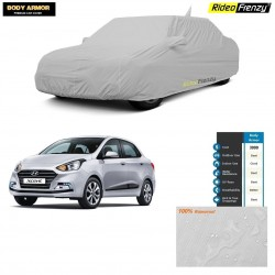 Body Armor Hyundai Xcent Car Cover with Mirror & Antenna Pocket | 100% WaterProof | UV Resistant | Dustproof | No Color Bleeding