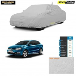 Body Armor Volkswagen Ameo Car Cover with Mirror & Antenna Pocket | 100% WaterProof