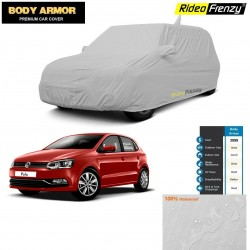 Body Armor Volkswagen Polo Car Cover with Mirror & Antenna Pocket | 100% WaterProof