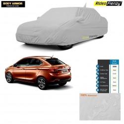 Body Armor Tata Tigor Car Cover with Mirror & Antenna Pocket | 100% WaterProof | UV Resistant | Dustproof | No Color Bleeding