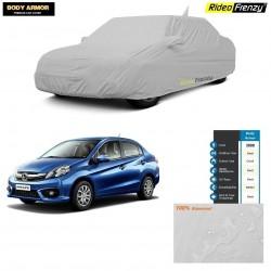 Body Armor Honda Amaze Car Cover with Mirror & Antenna Pocket | 100% WaterProof | UV Resistant | Dustproof | No Color Bleeding