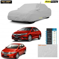 Body Armor Honda City Car Cover with Mirror & Antenna Pocket | 100% WaterProof | UV Resistant | Dustproof | No Color Bleeding