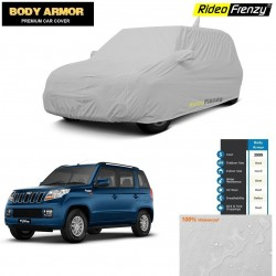 Body Armor Mahindra TUV300 Car Cover with Mirror Pocket | 100% WaterProof | UV Resistant | No Color Bleeding