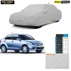 Body Armor Swift Dzire Car Cover with Mirror & Antenna Pocket | 100% WaterProof | UV Resistant | No Color Bleeding