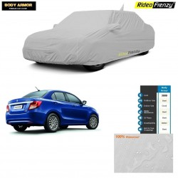 Body Armor New Dzire 2017 Car Cover with Mirror & Antenna Pocket | 100% WaterProof | UV Resistant | No Color Bleeding