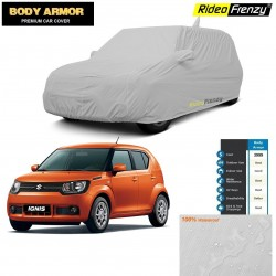 Body Armor Maruti Ignis Car Cover with Mirror & Antenna Pocket | 100% WaterProof | UV Resistant | No Color Bleeding