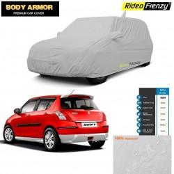 Body Armor Maruti Swift Car Cover with Mirror & Antenna Pocket | 100% WaterProof | UV Resistant | No Color Bleeding