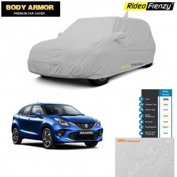 Body Armor Maruti Baleno Car Cover with Mirror & Antenna Pocket | 100% WaterProof | UV Resistant | No Color Bleeding