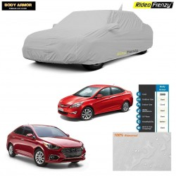 Body Armor Hyundai Verna Car Cover with Mirror & Antenna Pocket | 100% WaterProof | UV Resistant | No Color Bleeding