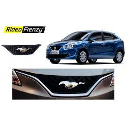 Buy Maruti Suzuki Baleno Mustang Chrome Grill | Imported | ABS Moulded | Custom Fit | Black Color