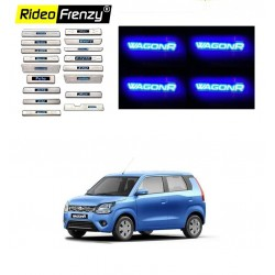 Buy Stainless Steel Scuff Plates for New Wagonr 2019 with Blue LED | Free Shipping
