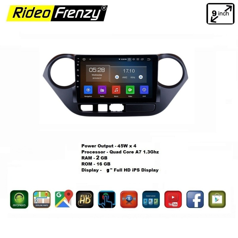 Buy Hyundai Grand I10 Oem Fitting Android Double Din Stereo System With Inbuilt Bluetooth 9