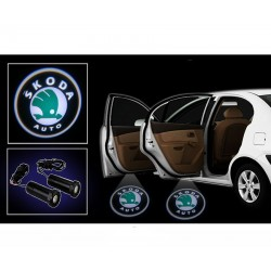 Buy Skoda Car Door Ghost / Projector / Shadow Led Light online at low prices-Rideofrenzy