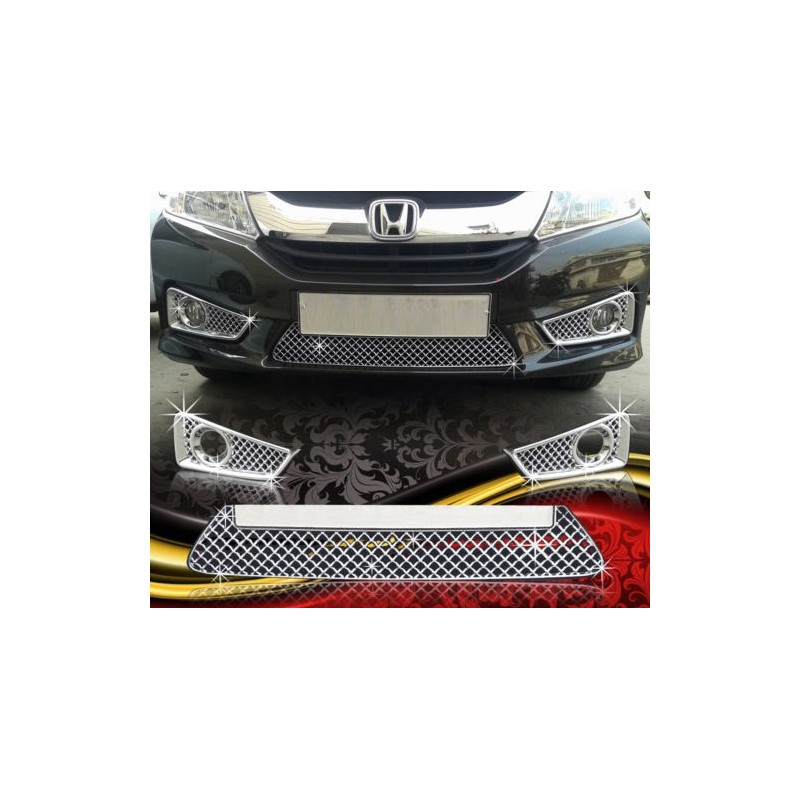 Buy Honda City Ivtec/Idtec Chrome Grill Covers online at low prices-Rideofrenzy