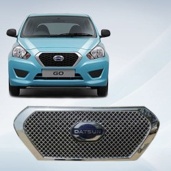 Buy Premium Glossy Datsun Go Front Chrome Grill Covers at low prices-RideoFrenzy