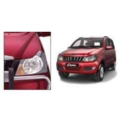 Buy Mahindra Quanto Chrome HeadLight Covers online at low prices-Rideofrenzy