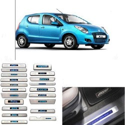Buy Maruti A-Star Door Stainless Steel Sill Plate with blue LED at low prices-RideoFrenzy
