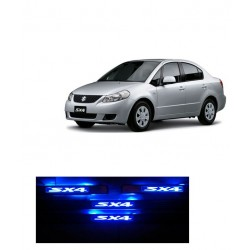 Buy Maruti SX4 Door Stainless Steel Sill Plate with blue LED at low prices-RideoFrenzy